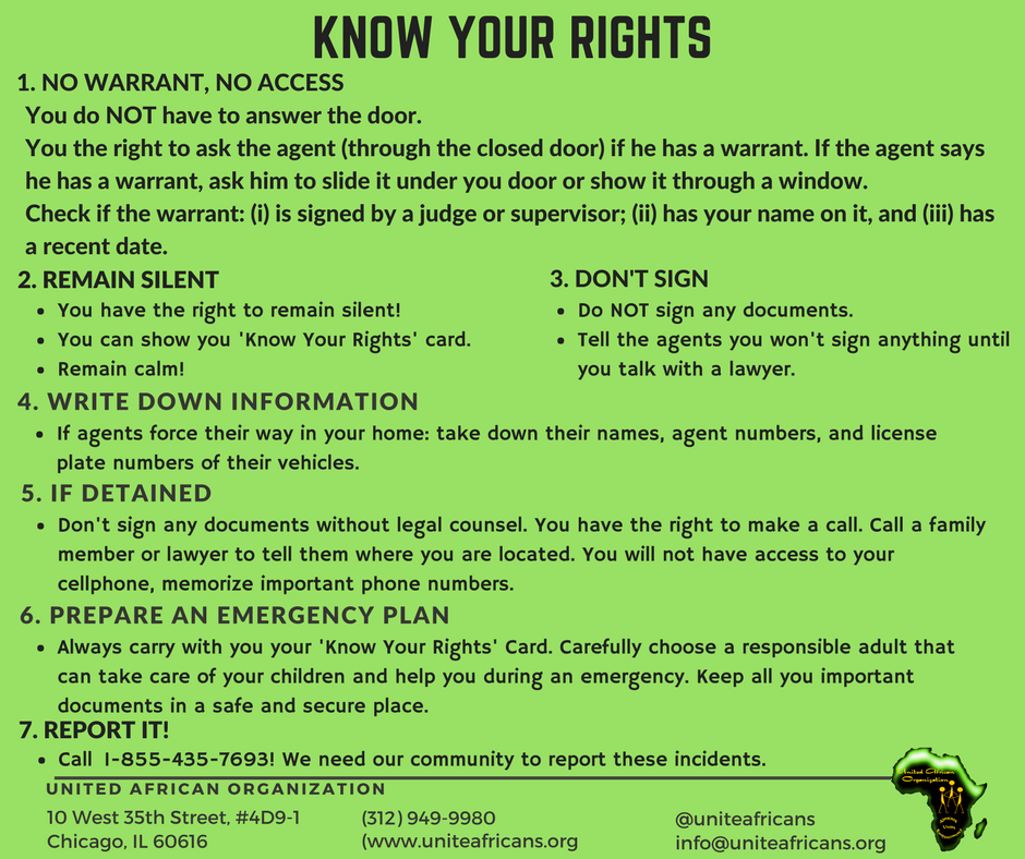 Know Your Rights United African Organization