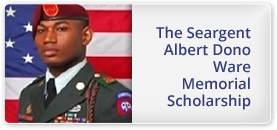 The Sergeant Albert Dono Ware Memorial Scholarship